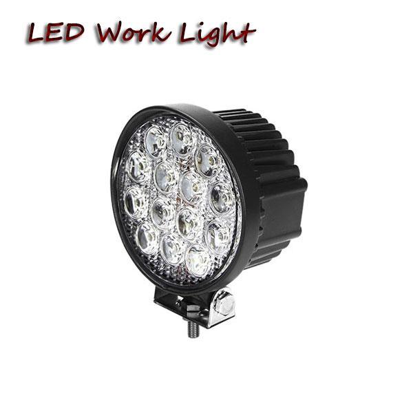 Livraison gratuite paire-42W 4in ronde LED travail lumière pour la ferme hors route powersports UTV SUV moto conduite brouillard léger camion lourd phare