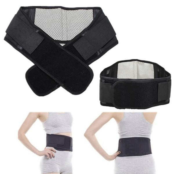 Self-heating Magnetic Therapy Lumbar Support Brace Hot Breathable Mesh Plate Protection Back Waist Support Belt Adjustable Size