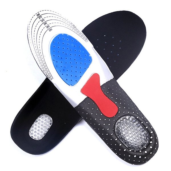 New Man Women Gel Orthotic Sport Running Insoles Insert Shoe Pad Arch Support Cushion Suit for US 35-46 shoe size