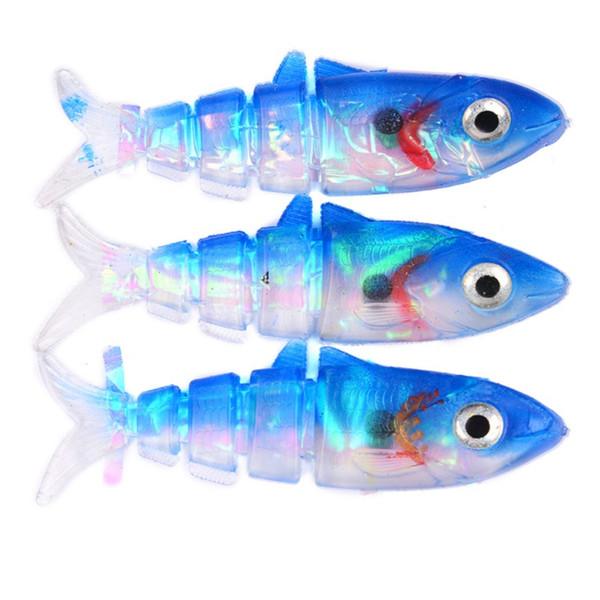 6PCS Soft Plastic Sharp Hooks 5 Colors Lead Jig Heads Fishing Lures Combo 10cm Fishing Tackle Silicone Soft Baits