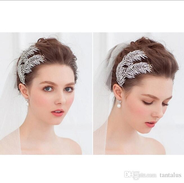Las mujeres de la boda Haiwear Rose diseño de la flor diademas de la cuerda elástica Headwear ajustable venda del pelo accesorios de la venda de las muchachas diademas tiaras