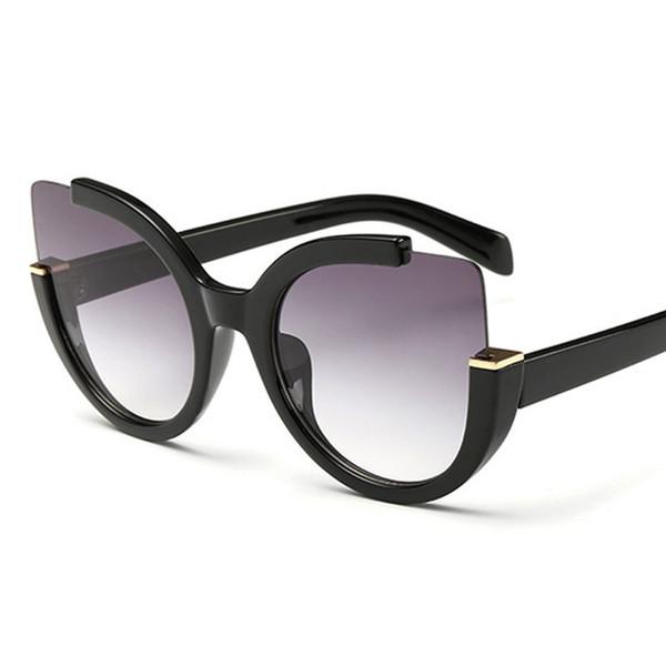 Brand Designer 2019 novo estilo verão mulheres óculos de sol para as mulheres olhos de gato óculos de sol meia moldura grande espelho moda vintage