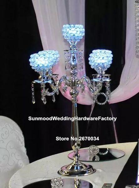 6 options) candlestick holder wedding /candlestick candle holder /crystal glass candlestick