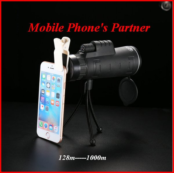 Monocular Telescope For Iphone Focus Green Film Optical Glass High Power Travelling Hunting Telescope Bird Watching Gift out12535x50 DHL
