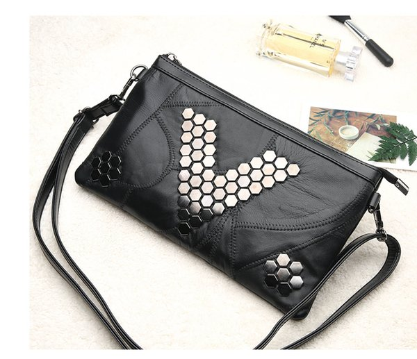 15pc 2017 new Fashion Multi-functional Evening party Clutch messenger cosmetic Envelope Purse wallet Handbag Phone Bag shoulder With Rivets