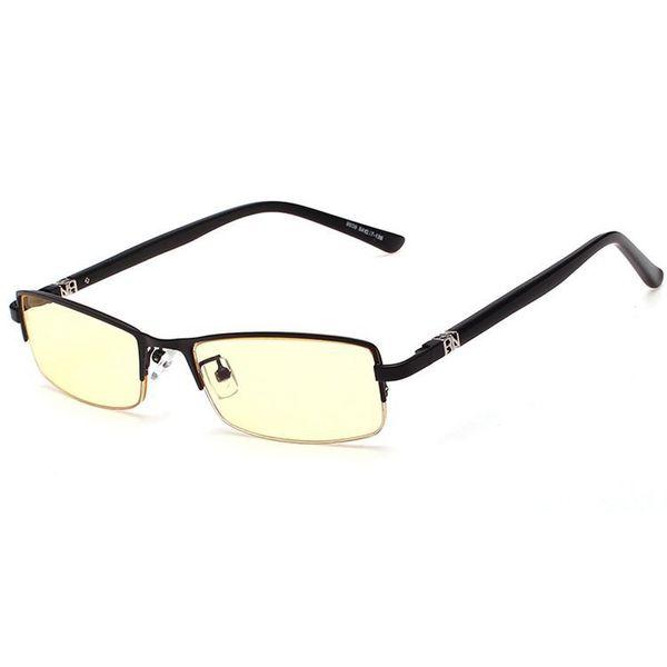 Wholesale- High Quality Rim Slim Computer Glasses Men Brand Designer Yellow Lens Anti Blue Ray Radiation Rimless Gaming Eyeglasses Eyewear