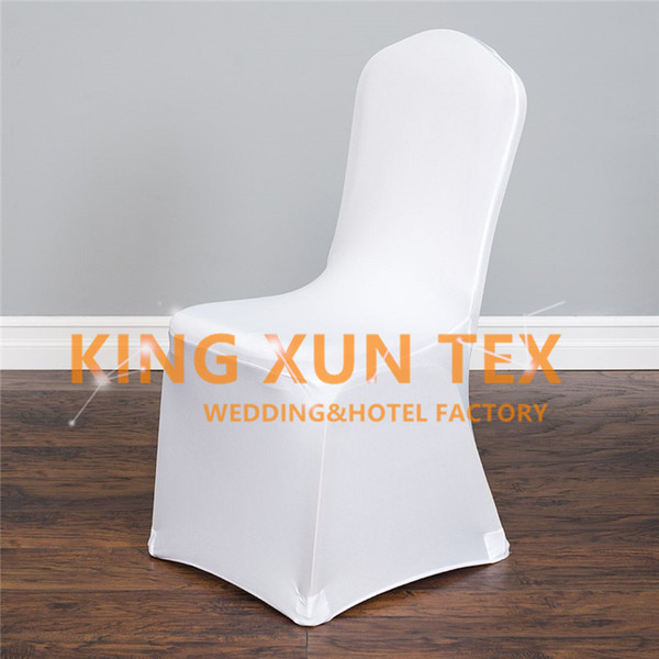 Nice Looking 30pcs Sold Lycra Spandex Chair Cover For Wedding Event Banquet Decoration Flat Front Free Shipping