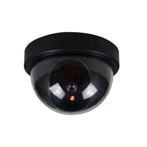 Telecamera di simulazione virtuale di sicurezza domestica Telecamera di sorveglianza CCTV a cupola fittizia finta con luci a LED lampeggianti