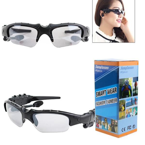 Bluetooth Kulaklık Ile 100% Orijinal BTgogg Güneş Gözlüğü Kablosuz Spor Kulaklık Sunglass Handsfree Kulaklık 4 renkler kaliteli