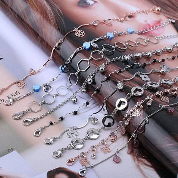 Pulsera de campana de verano de Europa y América pulsera de campana caliente borla de diamante pulsera de cristal de perla accesorios características tobillera