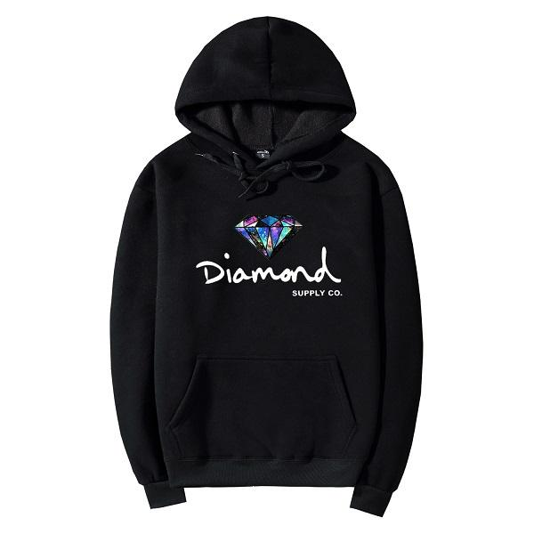 Wholesale S-2XL New Autumn Winter Thick Diamond Supply Hoodies Sweatshirts For Men Women Letter Printing Pullover Hoody Jacket