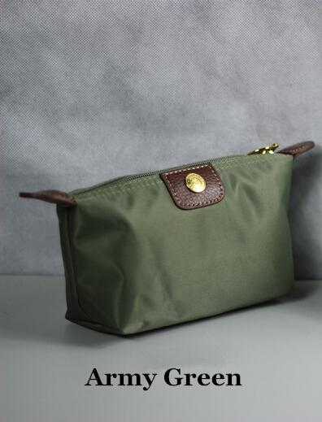 2018 Women Nylon Zero purse Waterproof Makeup Hand Bag Nylon CLUTCH BAGS Package Fashion Cosmetic Bags Champagne Cases