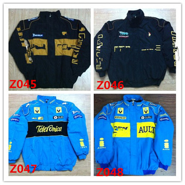 Marque de broderie F1 FIA NASCAR IndyCar V8 Supercar Veste en coton MOTO GP Racing Moto Rider Jacket f1 VESTE MOTO RACING hommes AR09