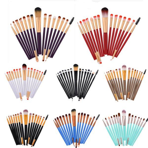 Eyes Makeup Brush Set 15pcs Professional Eyeshadow Foundation Eyeliner Eyelash Brushes Cosmetic Tools Make Up Brushes Kit