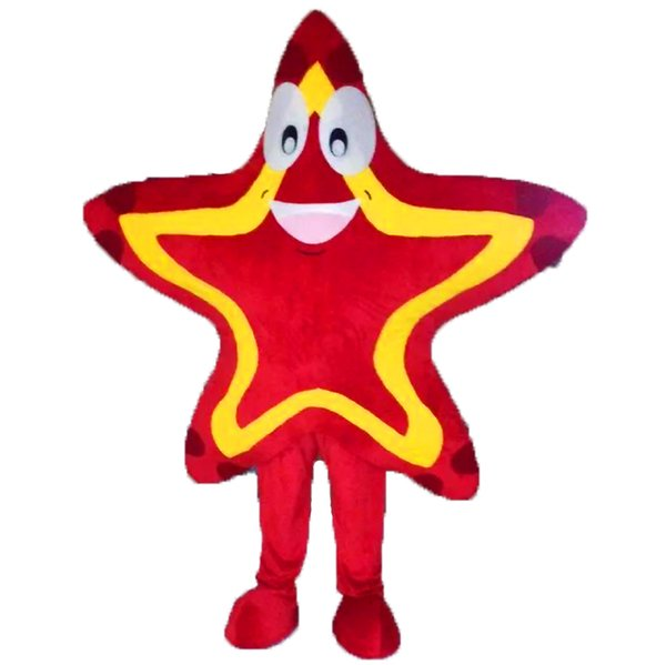 star mascot costume EMS free shipping, high quality carnival party Fancy plush walking starfish mascot adult size.