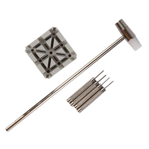 Juego de herramientas de reparación de martillo perforador de puntas de correa de correa de reloj de 6 piezas