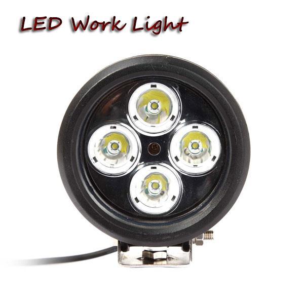 2pcs 40W ronde 4.7in haute puissance led travail lumière pour camion remorque véhicules agricoles équipement résistant 4x4 led lumières