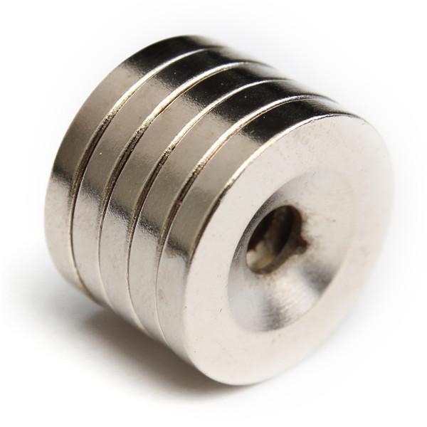 5pcs N50 20x3mm forte ronde aimants anneau fraisés aimant 5mm trou de terre rare aimant néodyme
