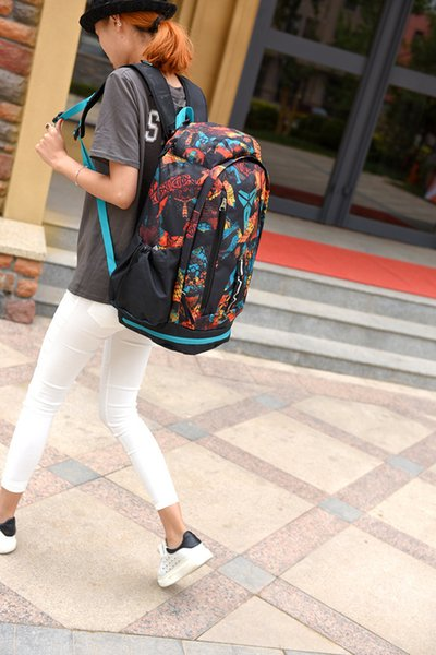 Outdoor Men Women Backpack SchoolBags The black mamba snake Edition Nylon scratch proof basketball backpacks bag large capacity travel bags