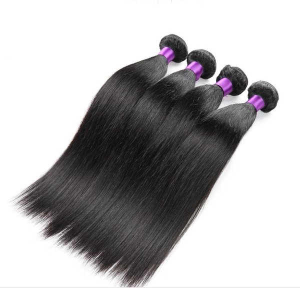 Brazilian Human Hair Extensions Human Hair Weft Straight Natural