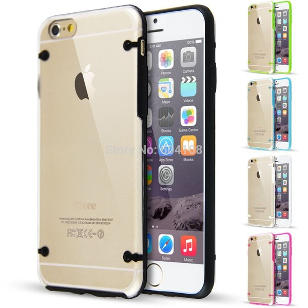 Glow in the Dark PC+TPU Ultra Thin Transparent Clear Crystal Soft Case Back Shell Skin For iPhone5 5S SE iPhone6 6s Plus iPhone7 7Plus