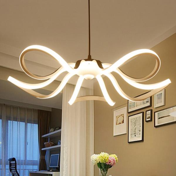Led Modern Chandelier Lighting Novedad Lustre Lamparas Colgantes Lámpara para Dormitorio Sala de estar luminaria Lámparas de interior