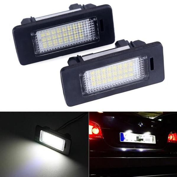 2PCS/lot 12V White 6000K Led license plate light Number Lience Lamp For bmw e60 E82 E90 E92 E93 M3 E39 E60 E70 X5 E39 E60 E61 M5