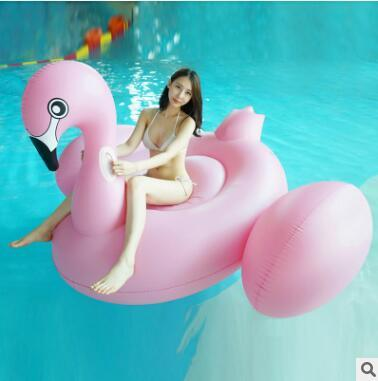 2016 Hot Inflatable Swan Unicorn Flamingo Floating Bed Raft Air Mattress Summer 190 cm PVC Adults Pool Float Toy Floating Row