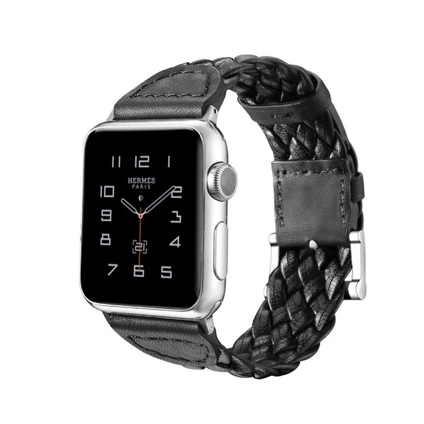 New Fashion Handmade Weave Genuine Leather Exquisite Straps for Apple Watch 38mm 42mm Band for Iwatch Bands 1 2 Series Bracelet