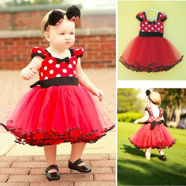 Baby Kids Clothing 2018 vintage Flower girls dresses Summer children Cartoon Ball gowns princess costume party dress toddler clothes #126