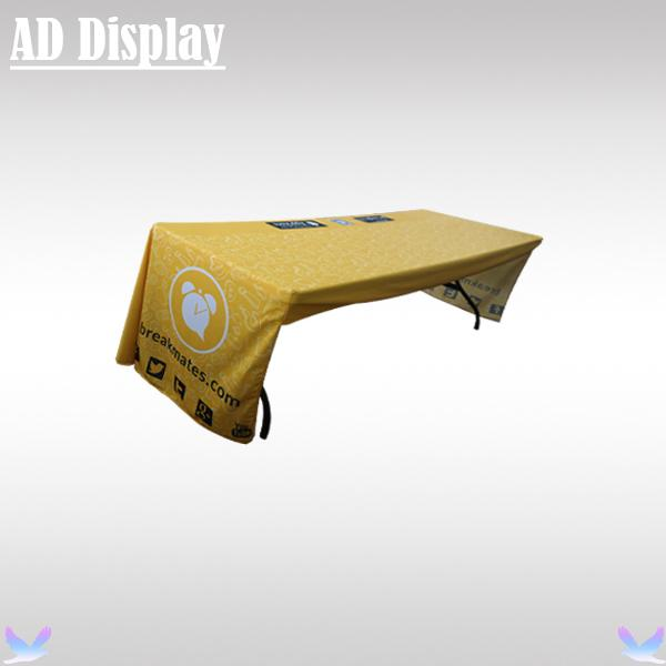 Exhibition Booth Advertising 6ft Loose Fit Table Cover/Table Cloth/Table Throw Three Side Full Color Heat Transfer Printing