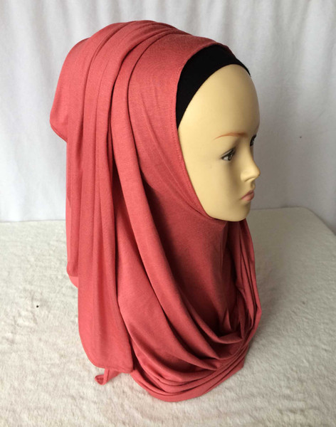 Wholesale-Jersey instant shawl hijab slip on shawls plain amira hijabs cotton jersey scarf,can choose colors,free shipping 5140