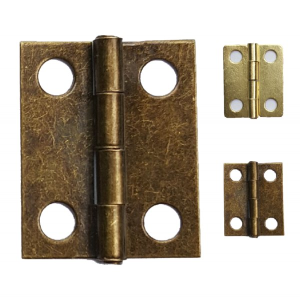 Wholesale- 200pcs 18*15mm HInge Brass/Bronze Color Flat Wholesale Small Hardware for Wooden Box Case Cabinet Drawer Door Funiture Fix