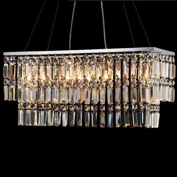 Lâmpada fluorescente pingente de cristal pingente de iluminação aechitectural luzes de suspensão moderna multi linear pingente de iluminação lâmpadas de cristal led
