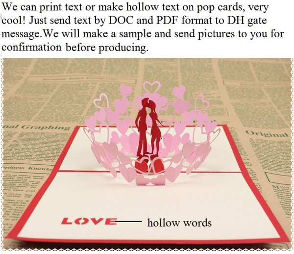 Acheter Laser Invitations De Mariage Coupés De Mariage Cartes De Mariage Invitations Cartes Personnalisées Texte Creux Amour Pop Up Cartes Parti