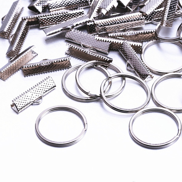 50Set 25mm Jewelry Findings & Components Connectors buckle Metal jewellery clip