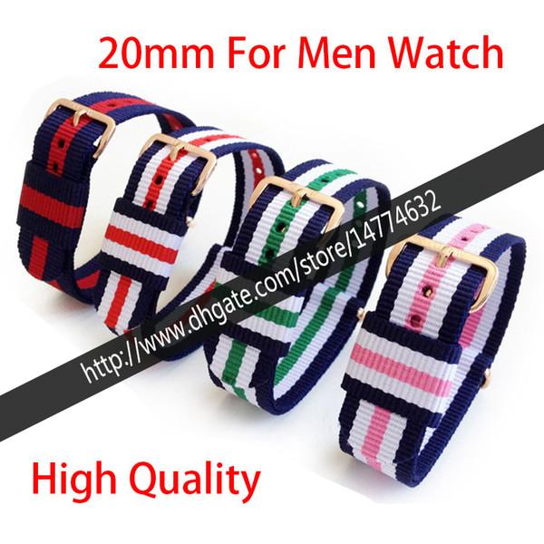 14 mm 17 mm 18 mm 19 mm 20 mm correa de correa de reloj de nylon de alta calidad