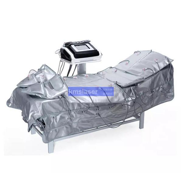 3 in 1 pressotherapy Infrarothitze, die Verpackungskleidungsdruckmassager-Blutzirkulation abnimmt Elektrischer Muskel-Anregungsabnehmen EMS rüsten sich aus