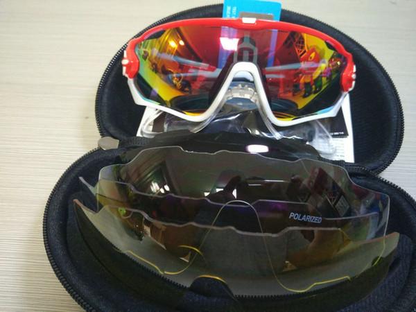 16 Renkler Yüksek Kalite Moda Spor Güneş Gözlüğü Kadın Erkek Değiştirilebilir 4 Lens Jawbreaker Bisiklet Gözlük Ücretsiz Kargo