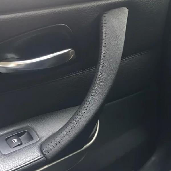крышка ручки двери автомобиля сырой кожи внутренняя bmw 3 e90 e91 e92 e93 /318 320 325 330 335 подлокотник автомобиля для BMW серии 3