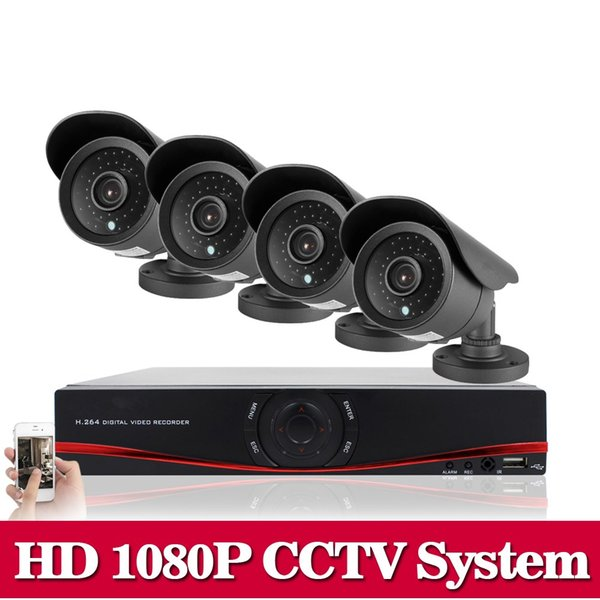 HD 1080P HDMI 8CH 1080P Security AHD DVR CCTV Kit AHD 8 Channel CCTV Kits Security 2.0MP 4PCS 3000TVL Camera System 1TB HDD