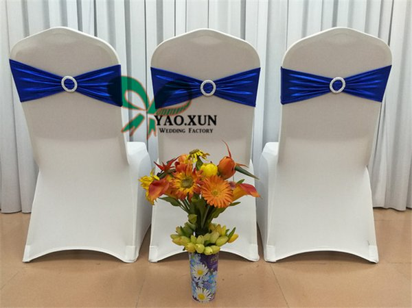 Toptan Fiyat Bronzlaştırıcı Kaplamalı Strech Sandalye Kanat 'Likra Spandex Sandalye Bant Için Düğün Sandalye Kapak