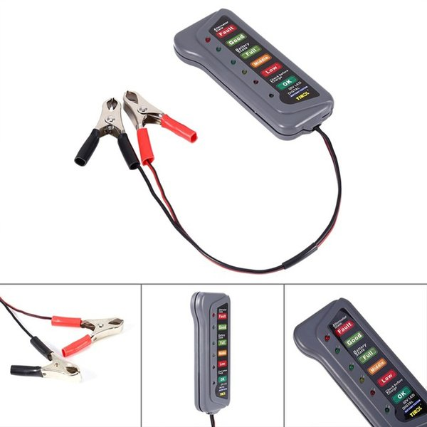 12V LED Digital Battery Tester For Car Motorcycle Trucks Vehicle Lead acid LED Display Indicates Condition Diagnostic Tool