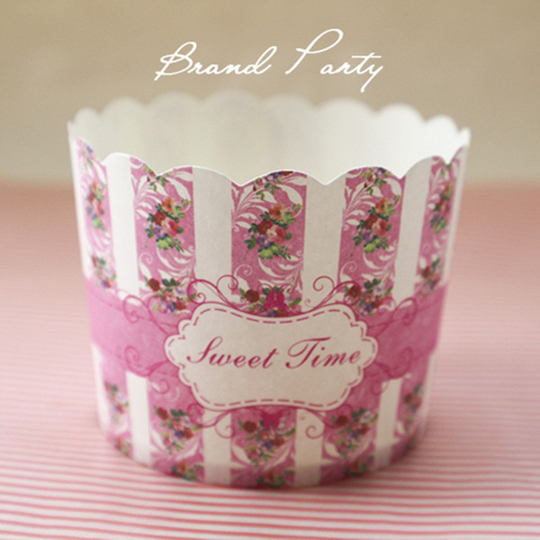 Sweet time Pink bulk High temperature baking greaseproof paper cups muffin cupcake liners/cases/wrappers cupcake