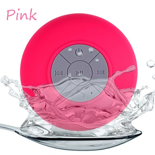 Wholesale- Portable Mini Shower Waterproof Wireless Bluetooth Speaker Subwoofer Car Hands-free Call Music Suction Mic For iOS Android Phone