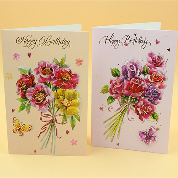 ZG105 Wholesale Creative Cartoon Hanging Card 8pcs/lot Case Pattern Universal Cards Birthday Card Blessing Card Wedding Cards with Envelope