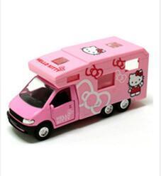 20151127 cartoon hello kitty mini car toy cars ambulance bus convertiblesimu lation of mini car pinkar