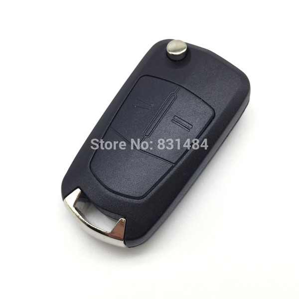 Remote Car key for Opel Vectra C Astra H Corsa D Zafira 2 button replacement remote control key case fob with logo