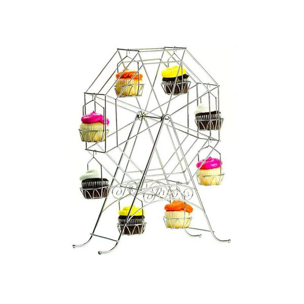 High Quality Newly Arrived Ferris Wheel Cupcake Stand - Rotating Dessert Holder Station Tower - Spinning Cupcake Tray