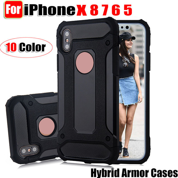 For iphone X Hybrid Armor phone Cases For iphone X 8 7 6 5 and for samsung galaxy note8, s8 s8plus, s7edge back cover case